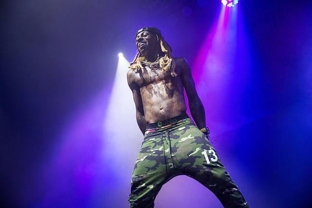 Lil Wayne performs at Bud Light show in Houston