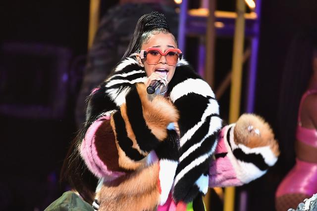 Cardi B Performing at the 2017 BET Awards