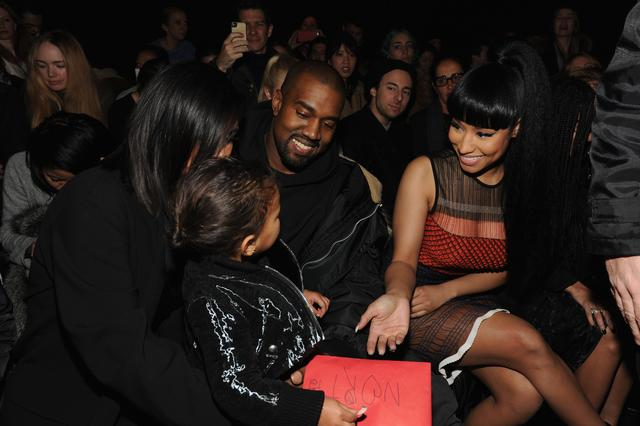 Nicki Minaj with North West and Kanye West