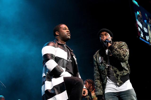 Meek Mill with ASAP Ferg on stage Powerhouse 2015