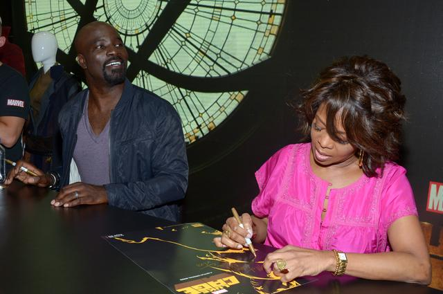 Luke Cage actors at signing