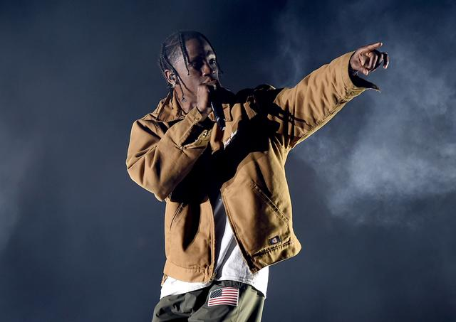 Travis Scott performing at Coachella