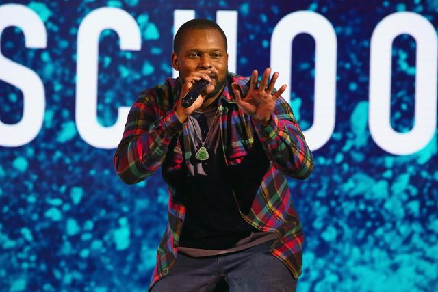 ScHoolboy Q on stage at BET Upfront