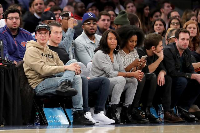 Logic at a basketball game front row