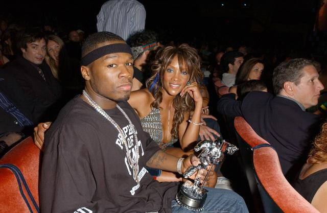 50 Cent and Vivica A Fox in 2003