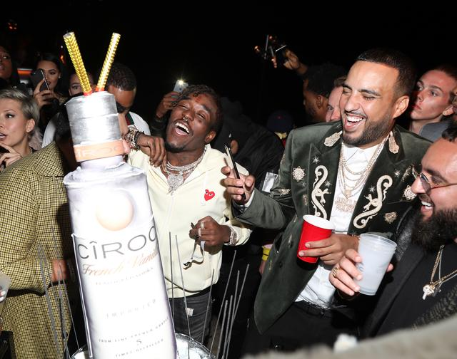 Lil Uzi Vert celebrating French Montana bday