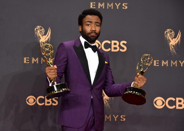 Donald Glover w two Emmys