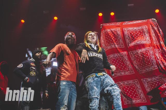Tekashi and Lil Yachty on stage during Yams Day