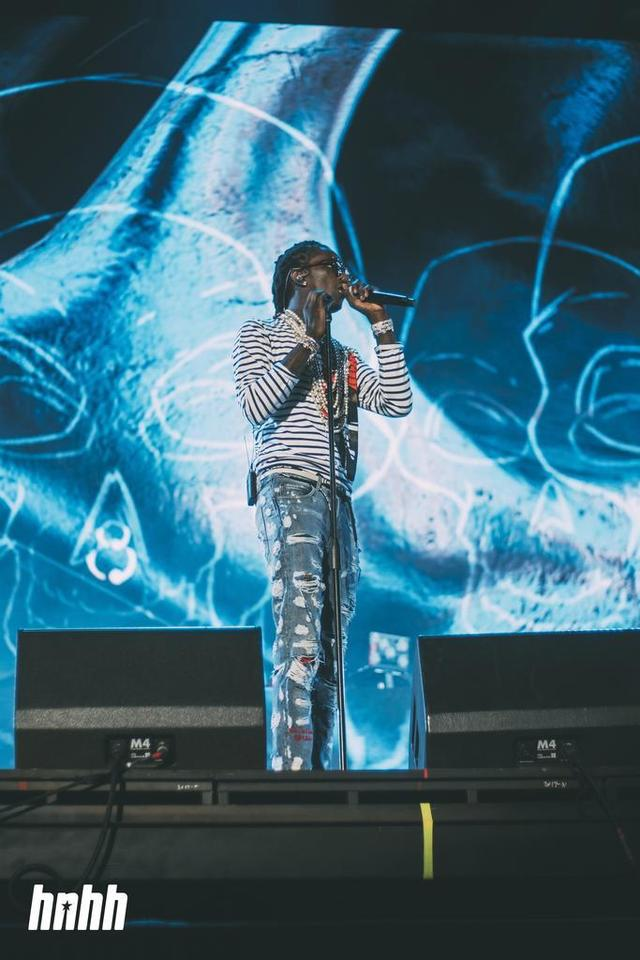 Young Thug performing at Rolling Loud