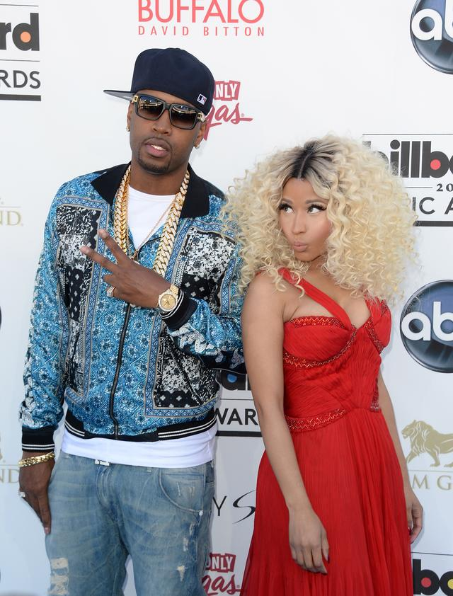 Nicki Minaj with ex Safaree Samuels on the red carpet