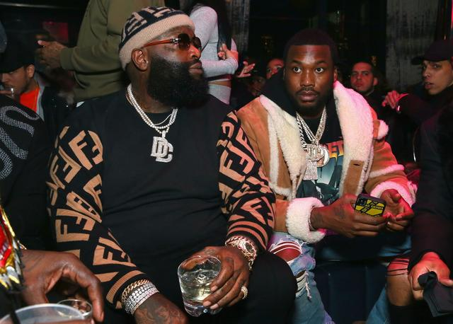 Rick Ross and Meek Mill chilling together