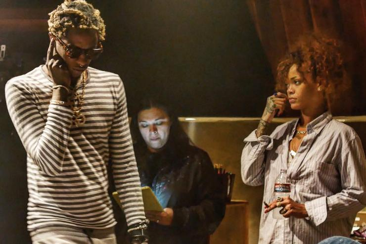 Young Thug and Rihanna in the studio