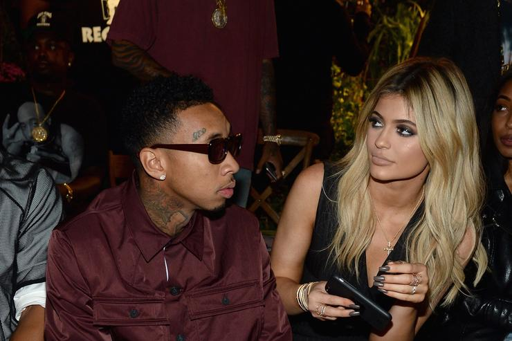 Tyga and Kylie Jenner at Opening Ceremony NYFW