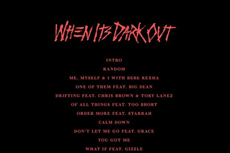 """When It's Dark Out"" tracklist (back cover)"