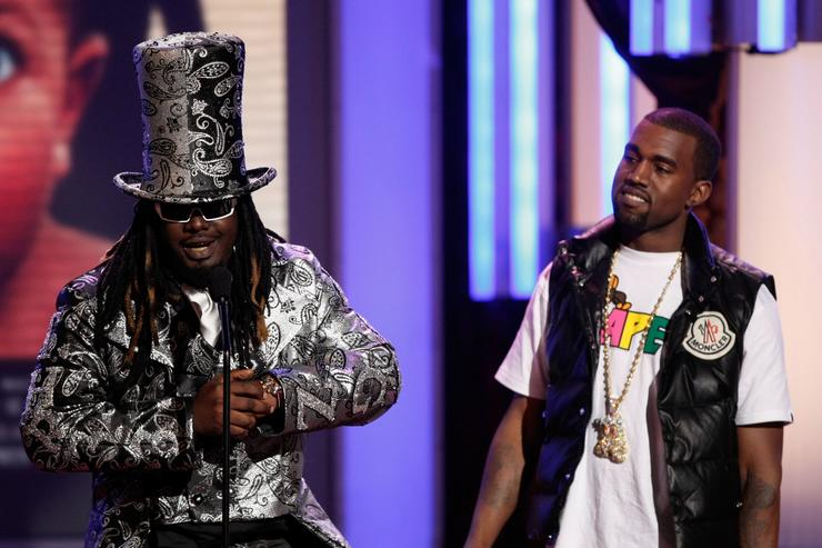 T-Pain and Kanye at 2008 BET Awards