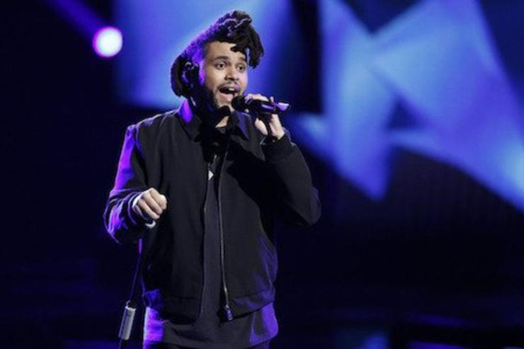 Abel performs on stage at The voice finale