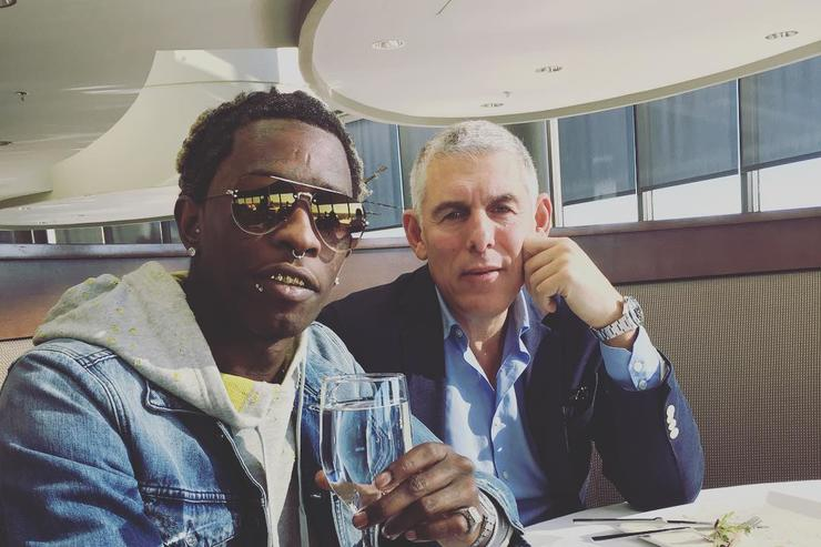 Young Thug & Lyor Cohen at lunch