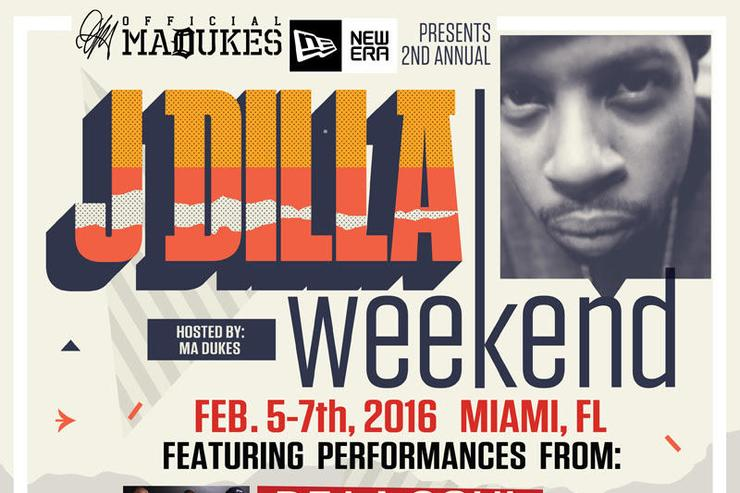 The official event poster for J Dilla Weekend 2016.