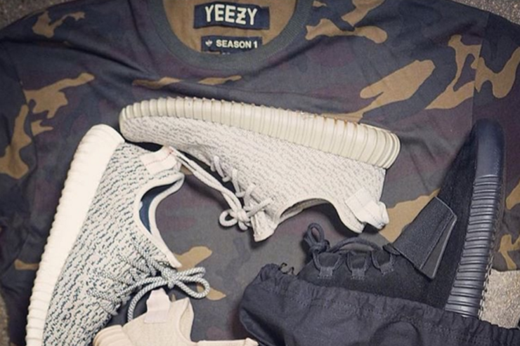 Instagram user @Garethvandagger shows off his collection of Yeezy gear.