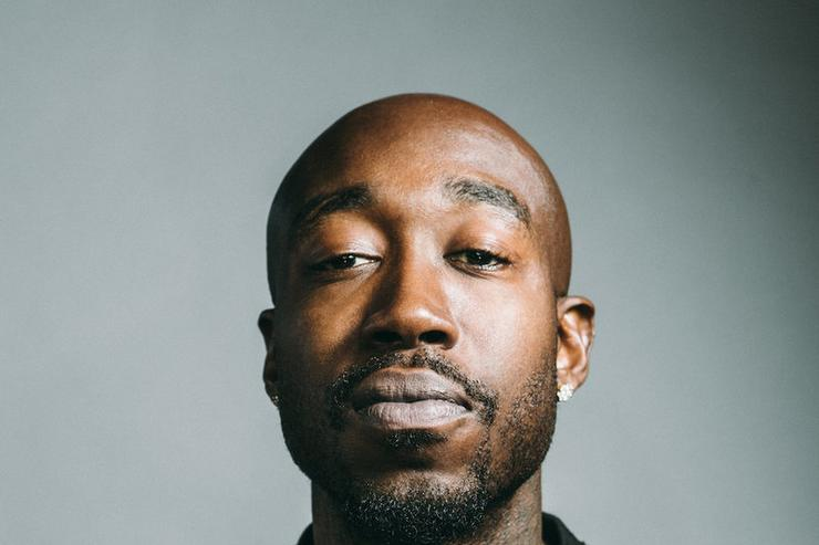 "Freddie Gibbs poses in the ""Microphone Check"" studios in California."