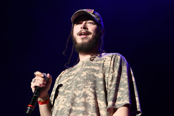 Post Malone at Power 106 Cali Christmas