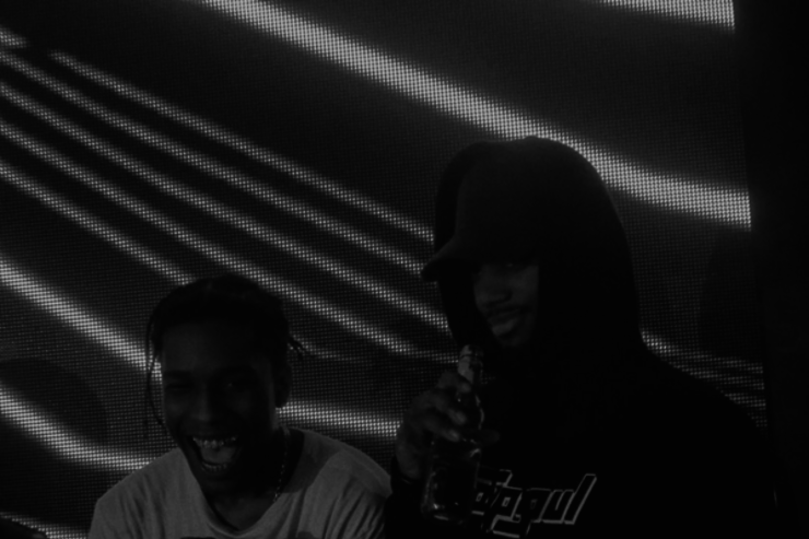 Bryson Tiller with Travi$ Scott in London.