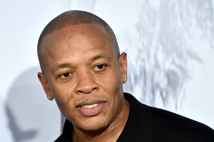 Dr. Dre at the Straight Outta Compton premiere.