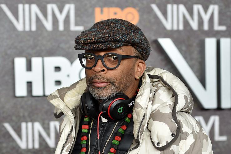 "Spike Lee at the premiere for ""Vinyl."""