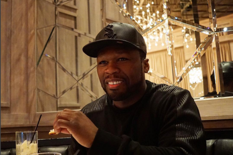 50 Cent eats a meal.