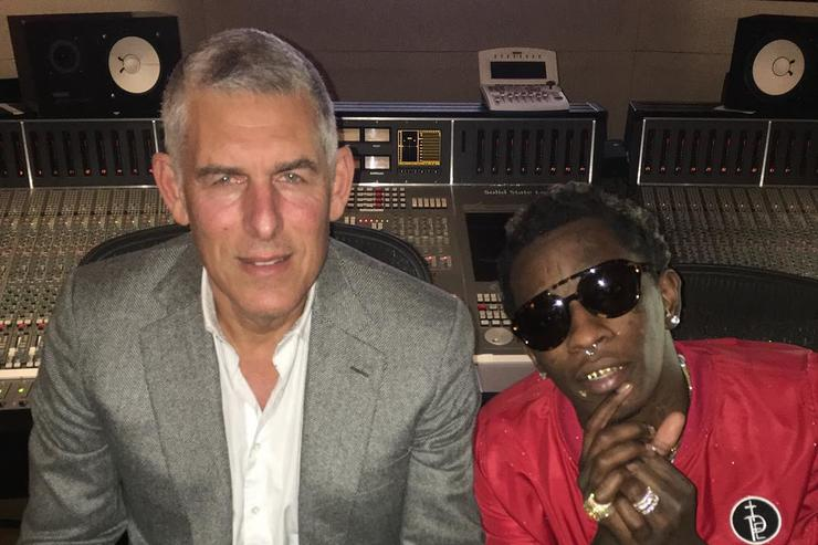 Young Thug & Lyor Cohen in the studio together