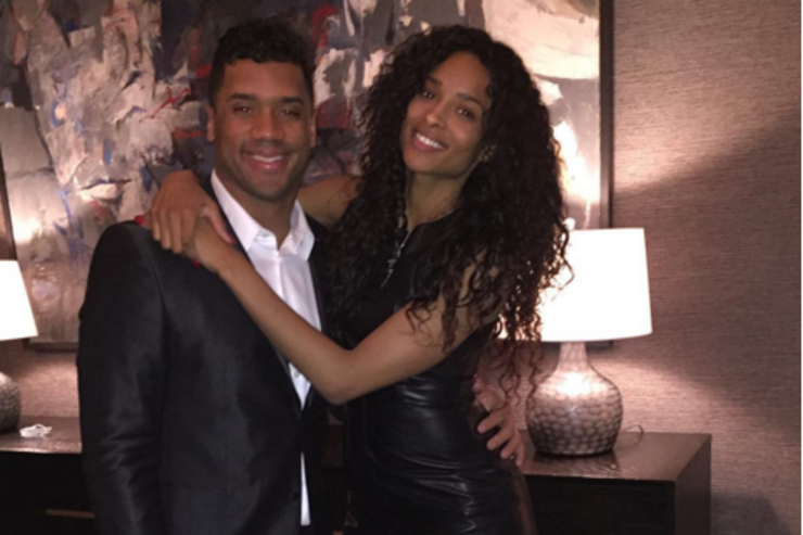 Russell Wilson and Ciara.