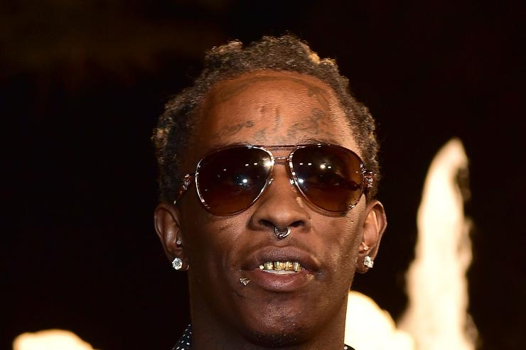 Young Thug at Rick Ross' 40th birthday party