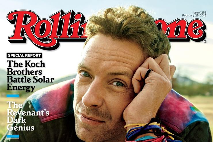 Chris Martin on the cover of Rolling Stone.