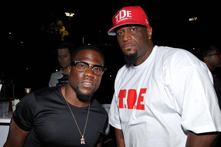 TDE CEO Anthony Tiffith with Kevin Hart.