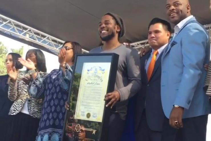 Kendrick Lamar Receives key To City