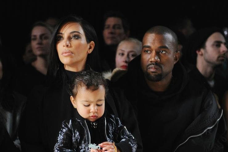 Kanye, Kim and North West at NYFW 2015