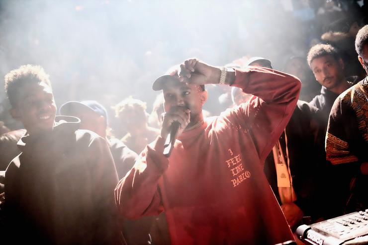 Kanye West at the Yeezy Season 3 at MSG