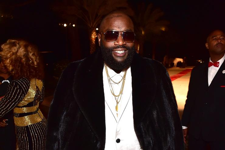 Rick Ross at his 40th birthday party