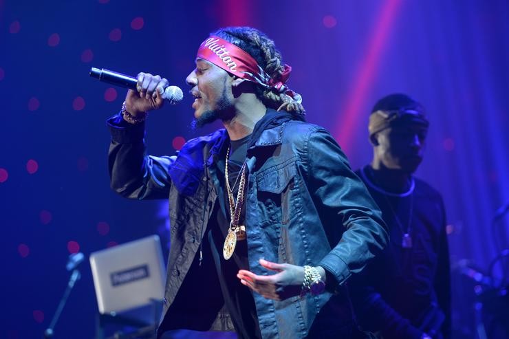 Fetty Wap performs at a pre-Grammy show.