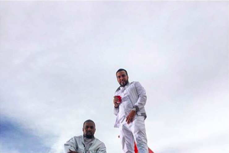 """Kanye West & French Montana on the set of """"Figure It Out"""""""