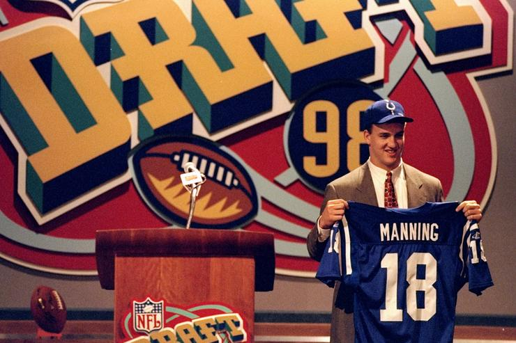 Peyton Manning getting drafted.
