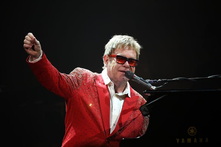 Elton John performs on Dick Clark's New Year's Rockin' Eve with Ryan Seacrest 2015 on December 31, 2014 in New York City. (