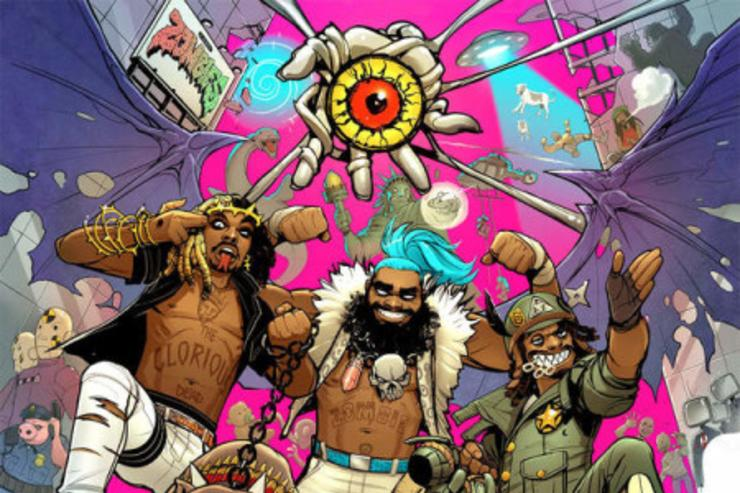 "Flatbush Zombies ""3001: A Laced Odyssey"" album cover"