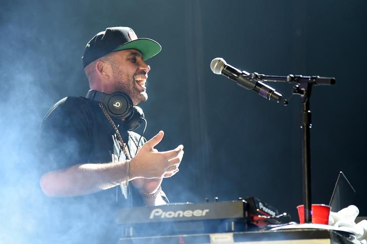 DJ Drama at Fall Out Boy And Wiz Khalifa In Concert At Mandalay Bay