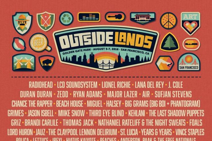 Outside Lands 2016 lineup San Francisco