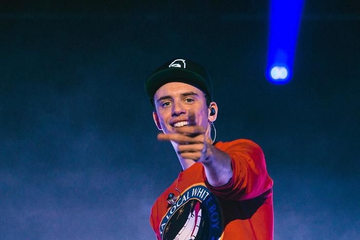 Logic performs on stage