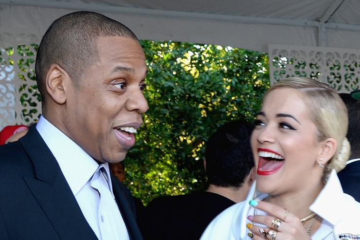 Roc Nation Pre-GRAMMY Brunch Presented By MAC Viva Glam - Inside Jay Z and Rita Ora