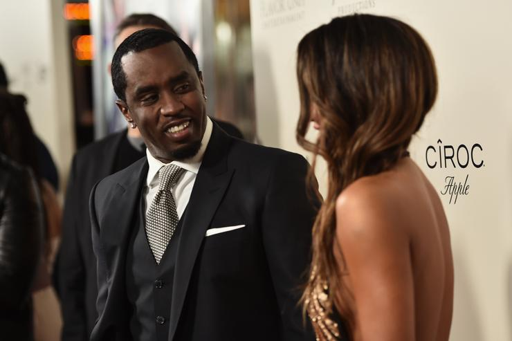 Diddy at movie premiere