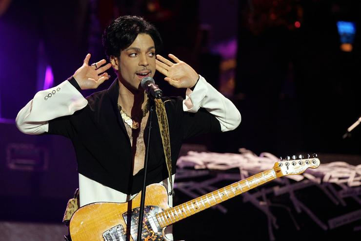 Prince performing at the 36th NAACP Image Awards