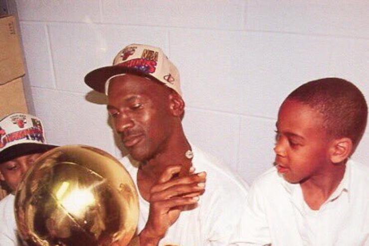Michael Jordan with Marcus Jordan and Jeffery Jordan